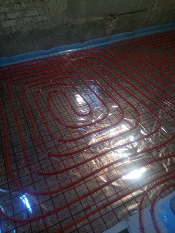 Электрический тёплый пол монтаж