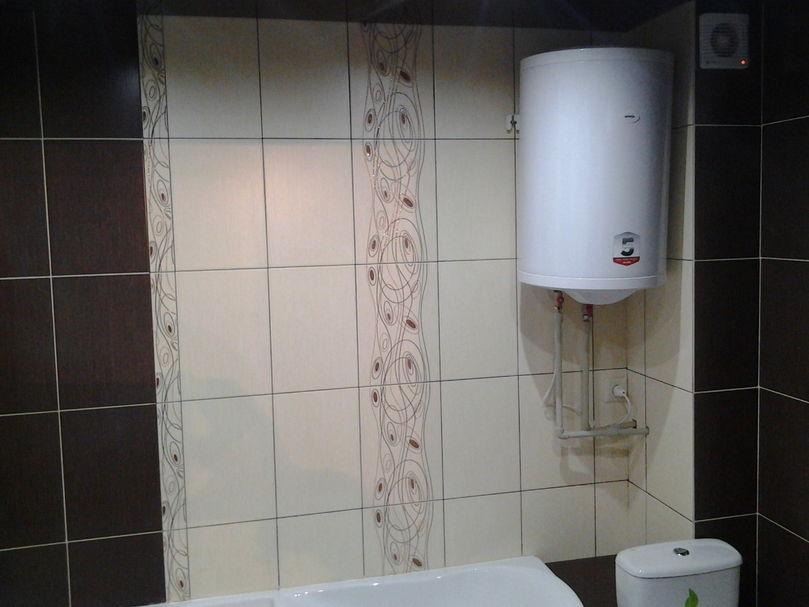 Установка бойлера в ванной комнате