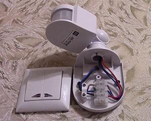 Подключаем датчик движения в помещении фото