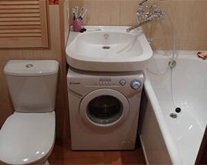 Valamu paigaldamine pesumasina foto kohale